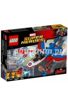 Конструктор Воздушная погоня Капитана Америка (76076) конструкторы lego lego воздушная погоня капитана америка 76076