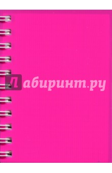 Записная книжка Notebook 120 листов, А6, пластик РОЗОВАЯ (45047) записная книжка а6 10 14см 46л клетка anan the lonely wolf картонная обложка на сшивке