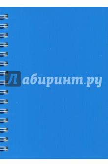 Записная книжка Notebook 120 листов, А6, пластик ГОЛУБАЯ (45045) записная книжка а6 10 14см 46л клетка anan the lonely wolf картонная обложка на сшивке