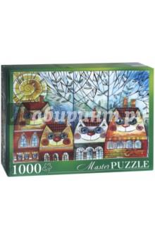 Купить Puzzle-1000 Оксана Заика. Коты-Домики (АЛМП1000-6922), Рыжий Кот, Пазлы (1000 элементов)
