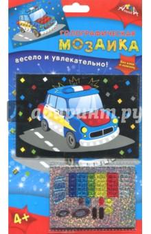 Голографическая мозаика Машинка (А6) (С2600-16) набор для детского творчества голографическая мозаика обезьянка с2600 09