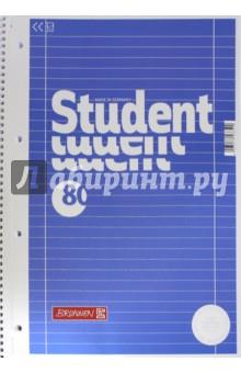Тетрадь 80 листов, А4, гребень, Колледж Premium, линейка