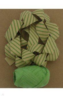 Zakazat.ru: Набор для оф подарков: бант+лента зеленые крафт (76946).
