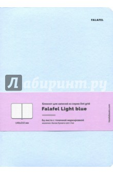 Блокнот Light blue, А5, в точку, 64 листа (446596) блокнот like believe а5 64 стр