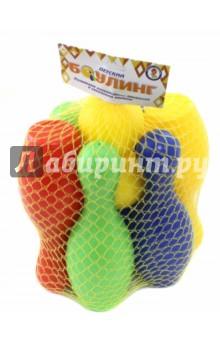 Купить Боулинг (6 кеглей + 2 мяча), Улыбка, Игры для активного отдыха