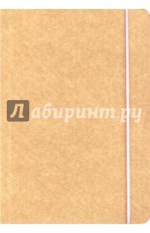 Книга для записи Крафт (нелинованная, 240 страниц, на резинке) (26283) книга для записей с практическими упражнениями для здорового позвоночника