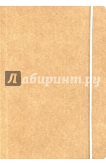 Книга для записи Крафт (нелинованная, 240 страниц, на резинке) (26287) книга для записей с практическими упражнениями для здорового позвоночника
