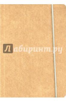 """Книга для записи """"Крафт"""" (нелинованная, 240 страниц, на резинке) (26290)"""