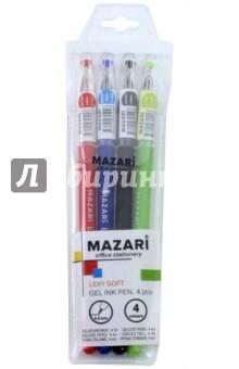 Набор ручек гелевых LEXY SOFT 4 цвета (М-5506-4) ручки centrum набор цветных гелевых ручек 4 цвета