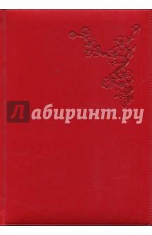 Ежедневник недатированный Небраска (А5, 160 листов, красный) (1722106259)