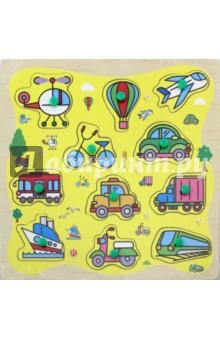 Деревянный пазл Транспорт (67903) kribly boo мягкая игрушка песик спорт 4 сказки