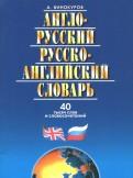 Англо-Русский, Русско-Английский словарь, 40 тысяч слов и словосочетаний