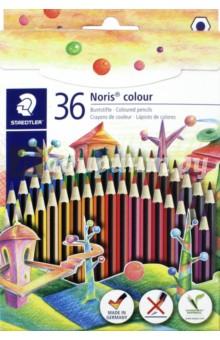 Карандаши цветные Noris Colour (36 цветов) (185CD36) карандаши цветные noris colour 24 цветные трехгранные 187c24