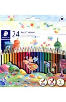 Карандаши цветные Noris Colour (24 цветные, трехгранные) (187C24) карандаши цветные noris colour 24 цветные трехгранные 187c24