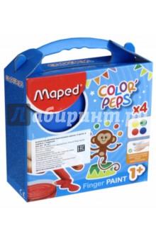 Пальчиковые краски Color'Peps (4 цвета) (812510) пальчиковые краски 4 цвета 50 гр