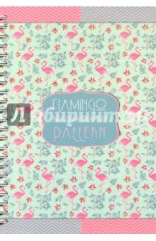 Престиж-блокнот Фламинго (96 листов, А5, клетка, гребень) (С0598-49) гребни bizon гребень диадема заколка