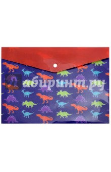 """Папка для школьных тетрадей """"Динозавры"""" (А4, кнопка) (46619)"""