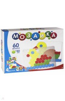 Мозаика (60 фишек, прозрачное поле, карточки) (М-9582) рыжий кот мозаика 250 фишек