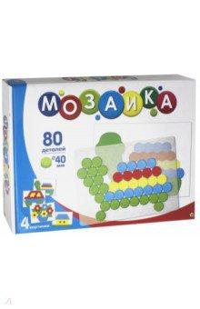 Мозаика (80 фишек, прозрачное поле, карточки) (М-9583)