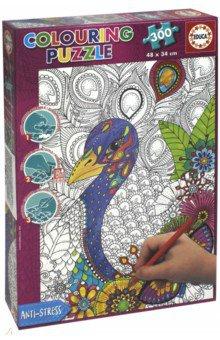 Купить Пазл-раскраска Джунгли (300 деталей) (17738), Educa, Пазлы (200-360 элементов)