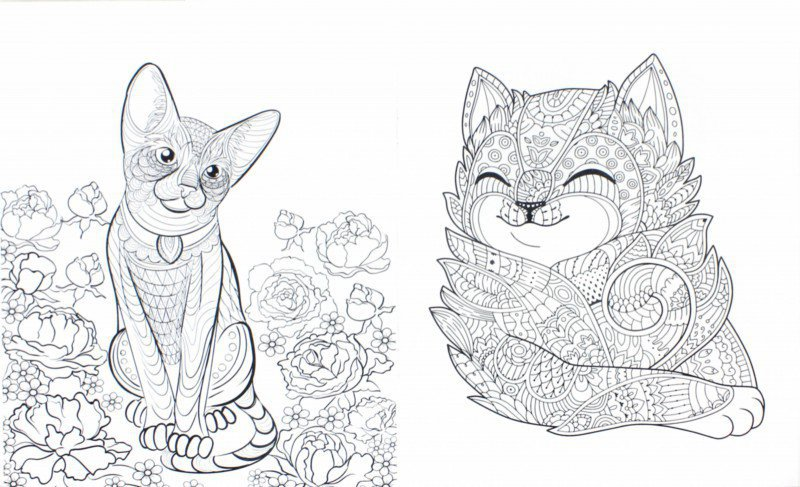 Иллюстрация 1 из 10 для Cats-2. Творческая раскраска ...