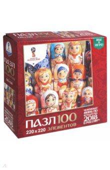Пазл-100 Матрешки. Расписные куклы (03805) пазлы origami пазл дм зайчик и волчонок 25 элементов