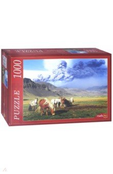 Купить Puzzle-1000 ЛОШАДИ И ВУЛКАН (КБ1000-6917), Рыжий Кот, Пазлы (1000 элементов)