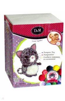 Купить Создаем игрушку из помпонов Котенок (67828), D&M, Изготовление мягкой игрушки