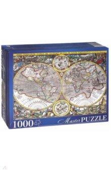 Puzzle-1000 Древняя карта мира (КБМП1000-6923) Masterpuzzle