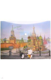Папка-конверт на кнопке Москва (A7580MC) папка на кнопке comix цвет красный