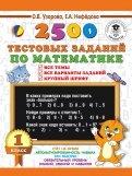 Математика. 1 класс. 2500 тестовых заданий