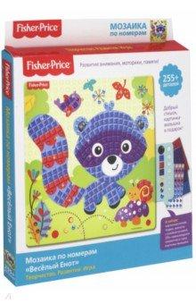 FisherPrice. Мозаика по номерам. Веселый  Енот(03853) игровые наборы fisherprice игрушка пирамидка веселый крокодил