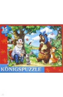Купить ПАЗЛ-РАМКА-15 Сказка №66 (ПК15-9980), Konigspuzzle, Пазлы (15-50 элементов)