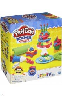 Набор игровой Для выпечки (B9741EU4) hasbro play doh игровой набор из 3 цветов цвета в ассортименте с 2 лет