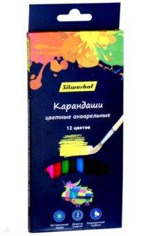 Карандаши цветные акварельные Цветландия (12 цветов, шестигранные) (134213-12) карандаши 12 цветов ластик цветландия