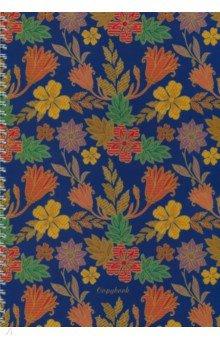 Тетрадь 80 листов, А4, спираль Волшебные цветы (ТСБ4804326)