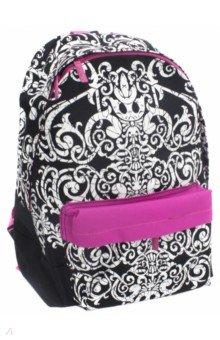 Купить Рюкзак BASIC. Черное Белое (NRk_25068), Хатбер, Рюкзаки школьные