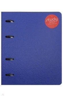 Тетрадь 120 листов, кольцевой механизм, Barcelona, синий (N1258)