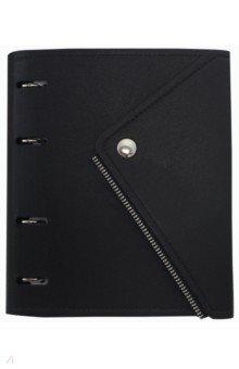 Тетрадь 120 листов, кольцевой механизм, Grunge, черный (N1283)