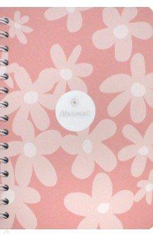 """Тетрадь 120 листов,спираль,твердая обложка """"Dream"""" розовый (N1204)"""