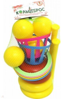 Купить Кольцеброс большой (4 кольца, 4 шара), Улыбка, Игры для активного отдыха