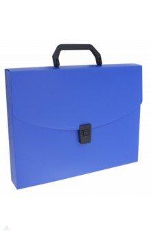 Портфель пластиковый, А4, 1 отделение, синий (BPP01BLUE)
