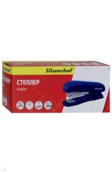 "Степлер ""Silwerhof"" 24/6, 20 листов, синий (401070-02)"