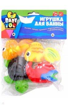 """Набор для купания """"Рыбки, рак, черепаха"""" 4 штуки (EL1212)"""