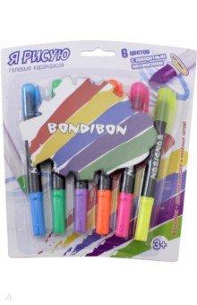 Набор гелевых карандашей для рисования, 6 цветов (ВВ2237)