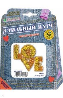 Купить Набор для изготовления украшения-патча Love (АФ 10-053), Клевер, Украшения из бисера, бусин, страз и ниток