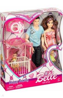 Набор кукол Счастливая семья с аксессуарами (X600-97) куклы и одежда для кукол defa lucy кукла на велосипеде с аксессуарами 28 см