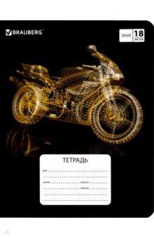"""Тетрадь школьная """"Motorbike"""" (18 листов, А5, линия, в ассортименте) (402997)"""
