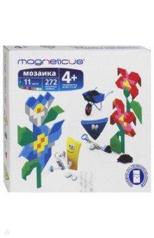 Мягкая магнитная мозаика Цветы (272 элемента, 11 цветов) (MM-012) magneticus мягкая магнитная мозаика 174 элемента