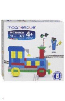 Мягкая магнитная мозаика Поезд (372 элемента, 11 цветов) (MM-013) magneticus мягкая магнитная мозаика 174 элемента